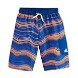 Boys 8-20 adidas Bendy Stripe Swim Trunks