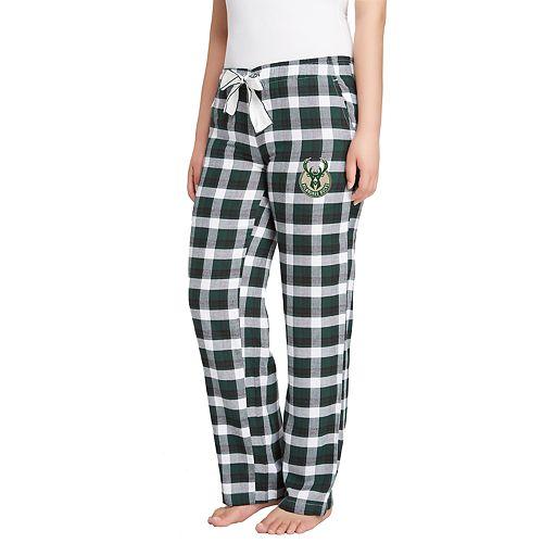 Women's Milwaukee Bucks Piedmont Flannel Lounge Pants