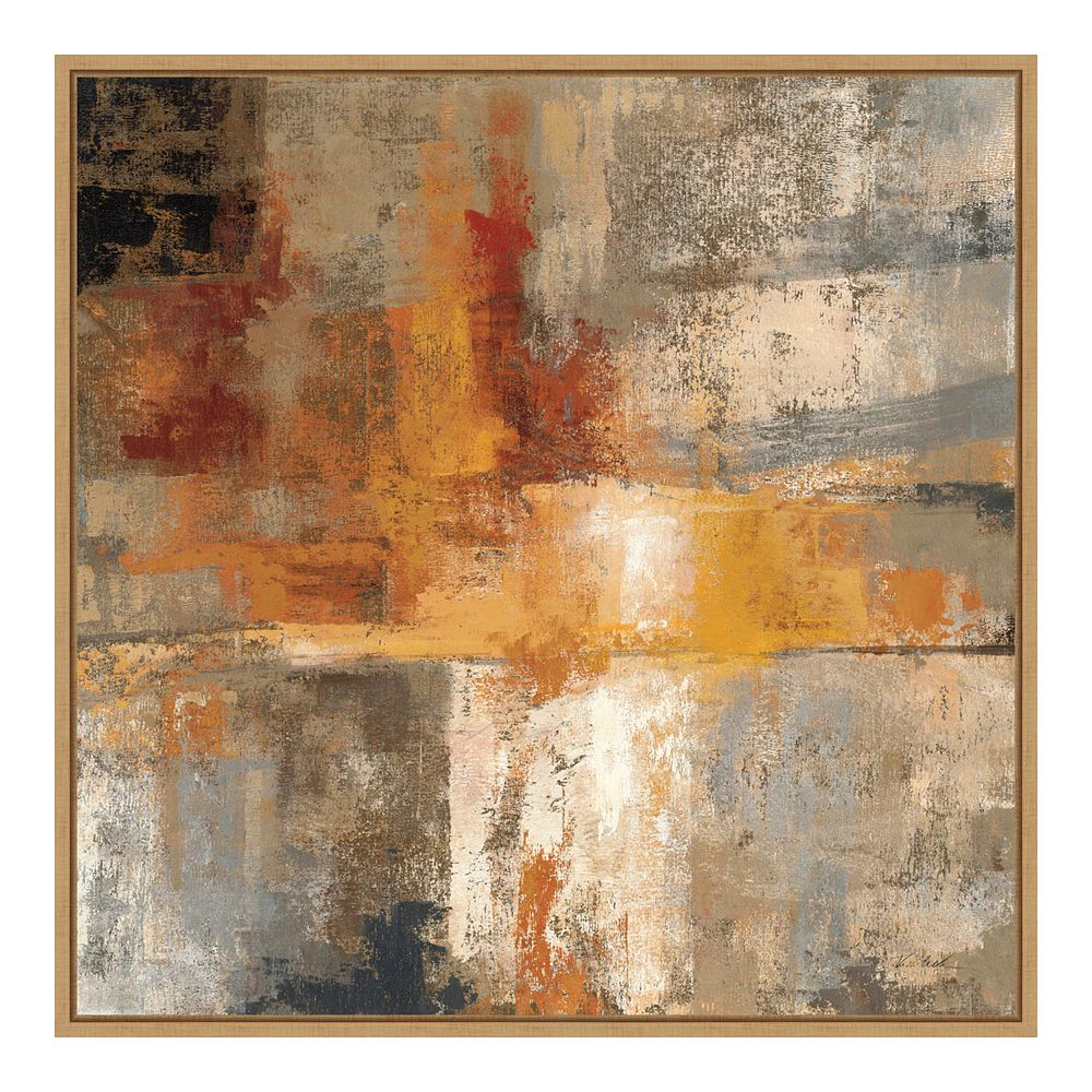 Amanti Art Silver & Amber Crop Framed Canvas Wall Art