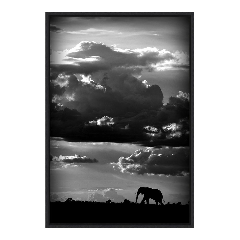 Amanti Art He Walks Under An African Sky Framed Canvas Wall Art