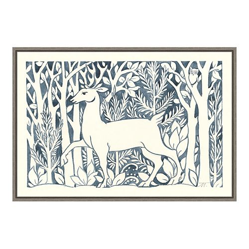 Amanti Art Forest Life V Framed Canvas Wall Art