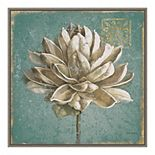 Amanti Art Seed Pod I No Words Turquoise Framed Canvas Wall Art
