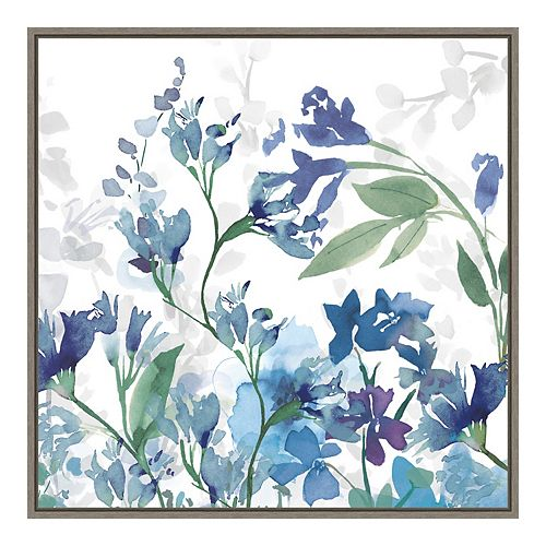 Amanti Art Colors of the Garden III Cool Shadows Framed Canvas Wall Art