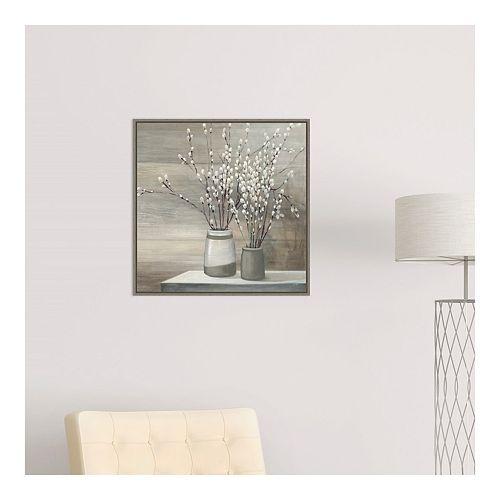 Amanti Art Still Life Gray Pots Crop Framed Canvas Wall Art