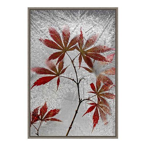 Amanti Art Red Maple Framed Canvas Wall Art