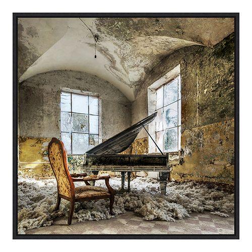 Amanti Art In Heaven Piano Framed Canvas Wall Art