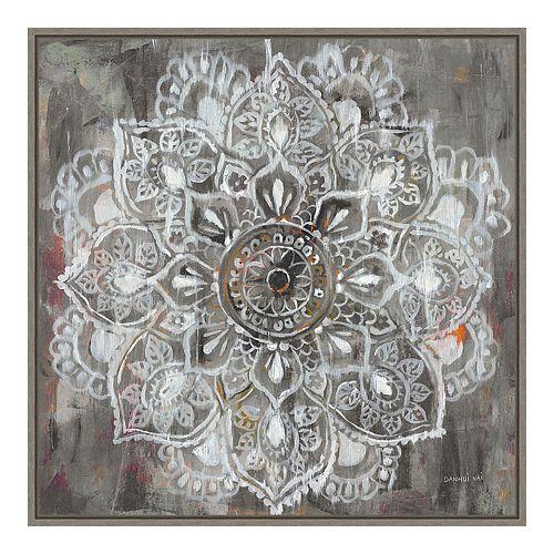 Amanti Art Mandala in Neutral II Framed Canvas Wall Art