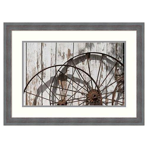 Amanti Art Old Wagon Wheels Framed Wall Art