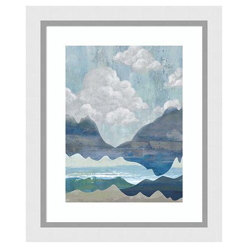 Amanti Art Cloudy Mountains I Framed Wall Art