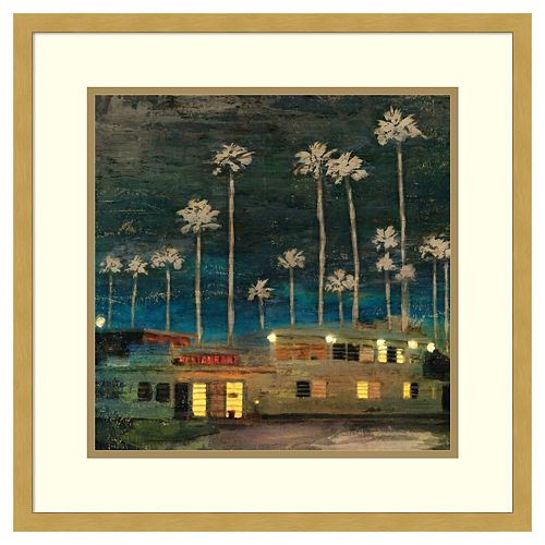 Amanti Art Palm Sunset Framed Wall Art