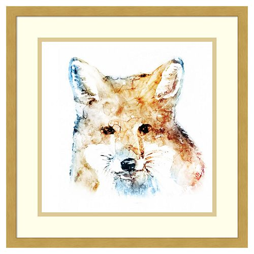 Amanti Art Watercolor Fox Framed Wall Art