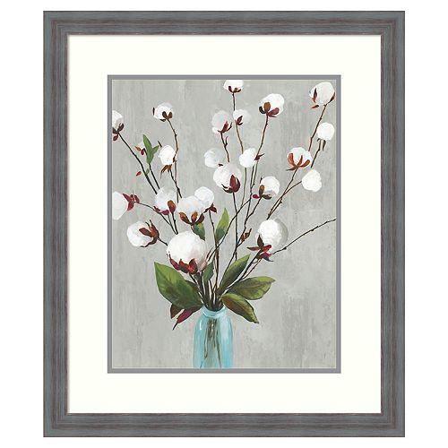 Amanti Art Cotton Ball Flowers II Framed Wall Art