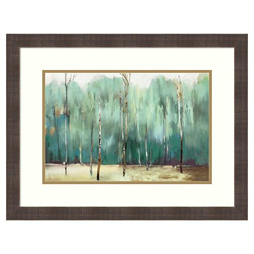 Amanti Art Teal Forest Framed Wall Art