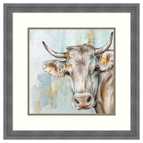 Amanti Art Headstrong Cow Framed Wall Art