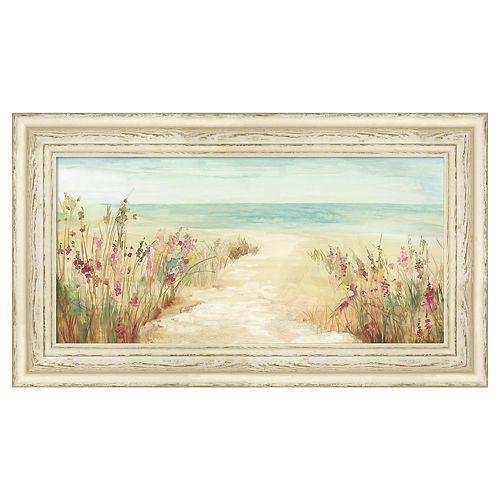 Amanti Art By The Beach Framed Canvas Wall Art