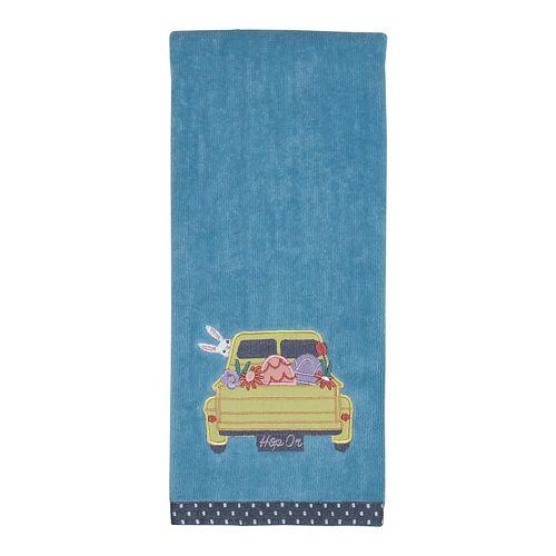 Easter Farm Truck Hand Towel