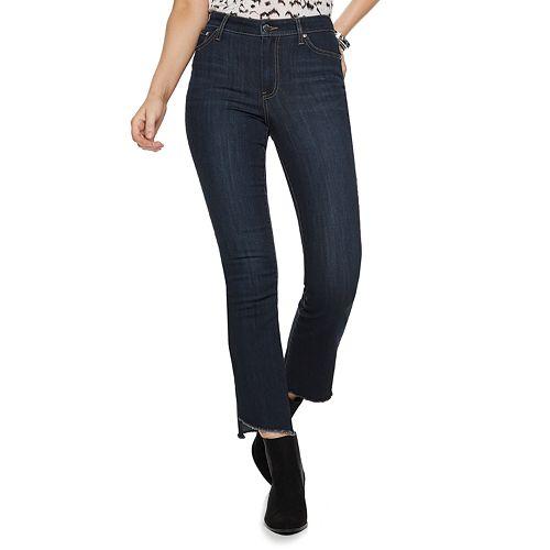 Petite Nine West Delancy High-Rise Kick Flare Jeans