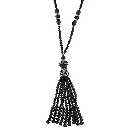 Napier Beaded Tassel Y Necklace