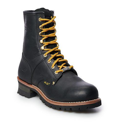 AdTec 1428 Men's Water Resistant Steel Toe Logger Work Boots