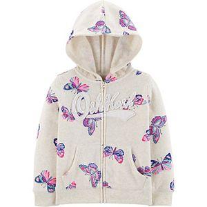 Toddler Girl OshKosh B'gosh® Butterfly Logo Hoodie