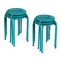 Deals on Atlantic Daisy Stackable Stool 6-Piece Set