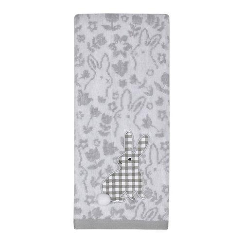 Easter Plaid Bunny Hand Towel