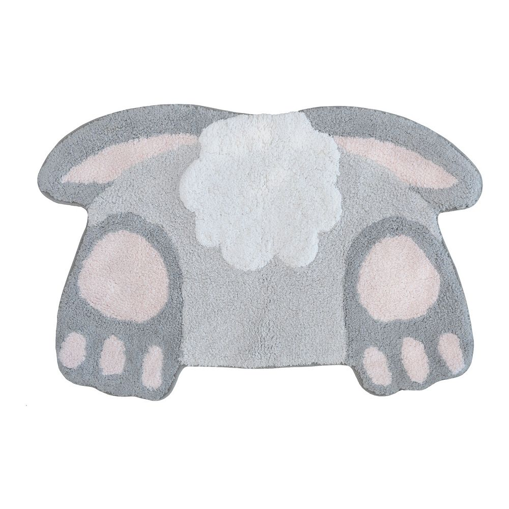 Celebrate Spring Together Bunny Tail Bath Rug