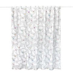 Blue Diamond Fabric Shower Curtain Weighted Large Wide Long