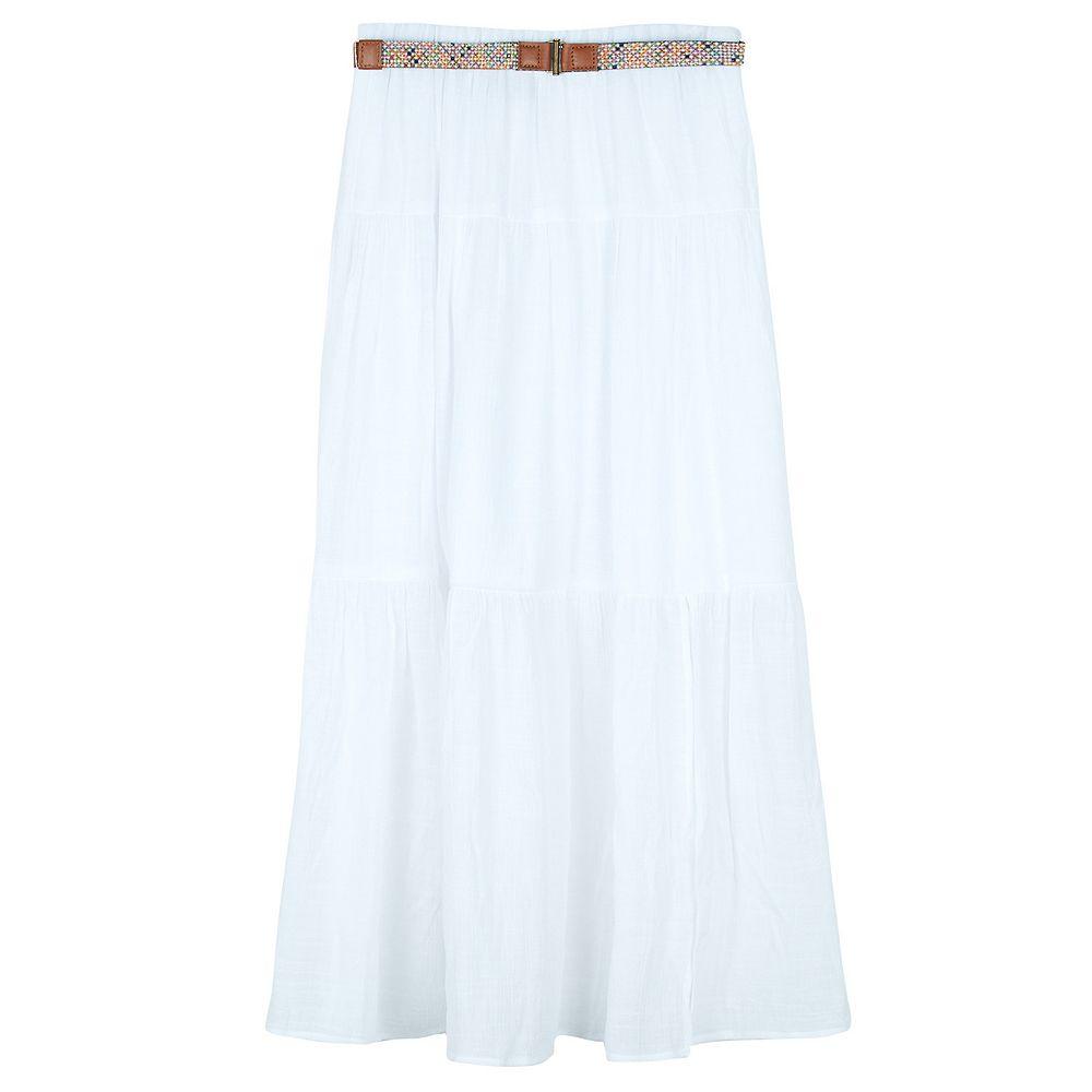 Girls 7-16 IZ Amy Byer Maxi Skirt with Side Front Slit & Belt