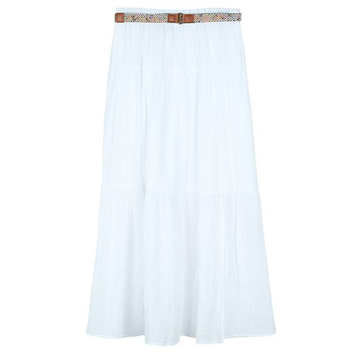 Girls 7-16 IZ Amy Byer Maxi Skirt with Side Front Slit & Belt