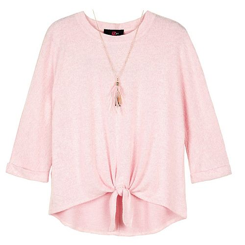 Girls IZ Amy Byer Tie Front Pullover Top