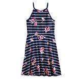 Girls 7-16 SO® Floral High Neck Skater Dress
