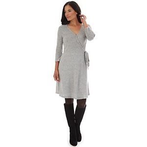 Women's Apt. 9® Three-Quarter Sleeve Wrap Dress