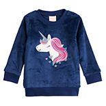 Baby Girl Jumping Beans® Plush Crew Sweatshirt