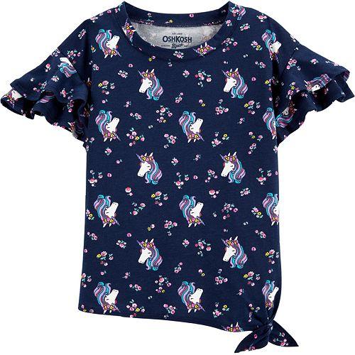 Toddler Girl OshKosh B'gosh® Ruffle-Sleeve Top