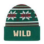Mens adidas Minnesota Wild Cuff Beanie Hat