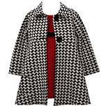 Baby Girl Bonnie Jean Sleeveless Textured Knit Dress with Houndstooth Doubleknit Coat