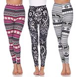 Women's White Mark Pack of 3 Leggings
