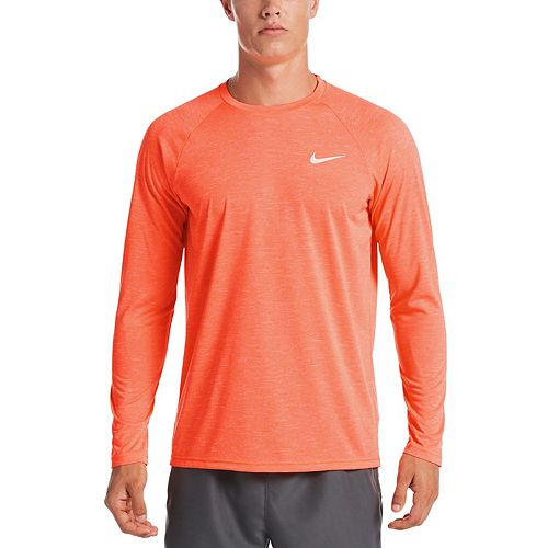 Men's Nike Dri-FIT UPF 40+ Hydroguard Heathered Long Sleeve Swim Tee