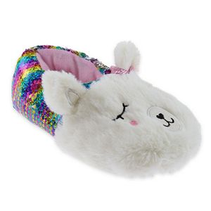 Elli by Capelli Flippable Sequin Llama Slippers