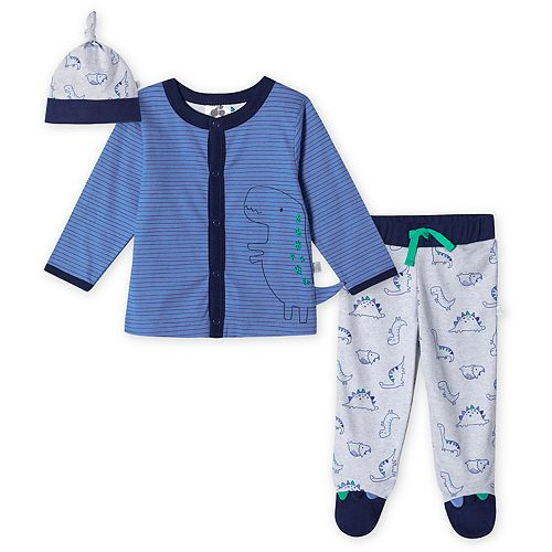 Baby Boy Just Born Lil' Dino 3-Piece Take-Me-Home Set