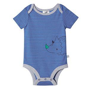 Baby Boy Just Born Lil' Dino 4-Pack Short Sleeve Bodysuits