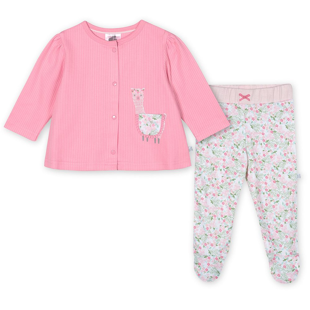Baby Girl Just Born Lil' Llama 3-Piece Organic Take-Me-Home Set