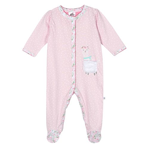 Baby Girl Just Born Lil' Llama Organic Sleep 'n Play