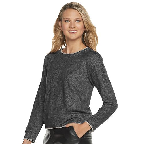 Women's Rock & Republic Snap Sleeve Sweatshirt