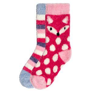 Girl's Cuddl Duds® 2-Pack Chenille Socks