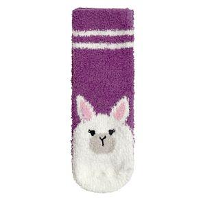 Girl's Cuddl Duds® Llama Tactel Slipper Sock