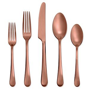 Skandia Mirabella Satin Copper 20-pc. Flatware Set