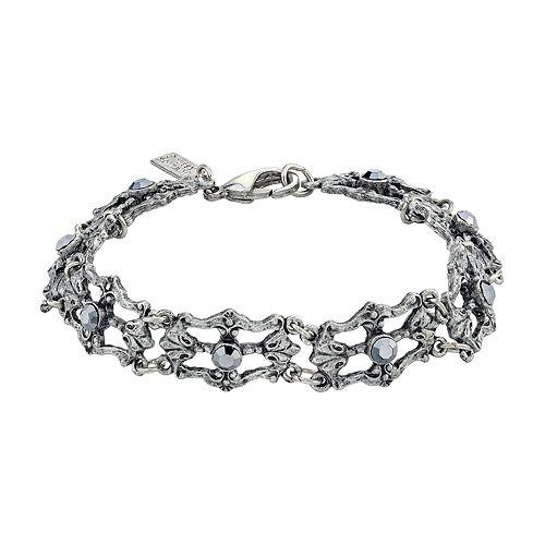Downton Abbey Silver Tone Link Bracelet
