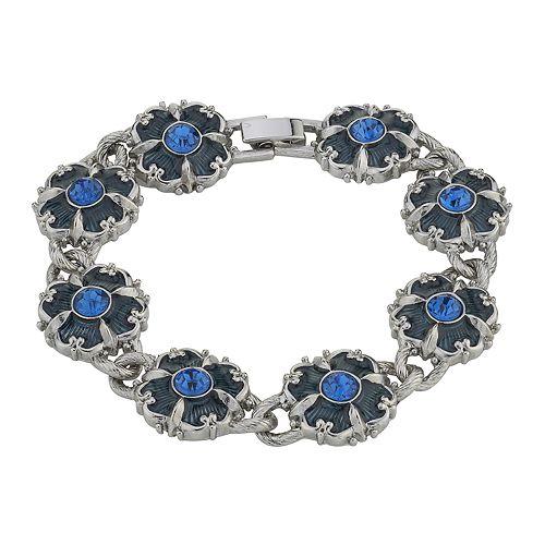 Downton Abbey Blue Crystal Link Bracelet